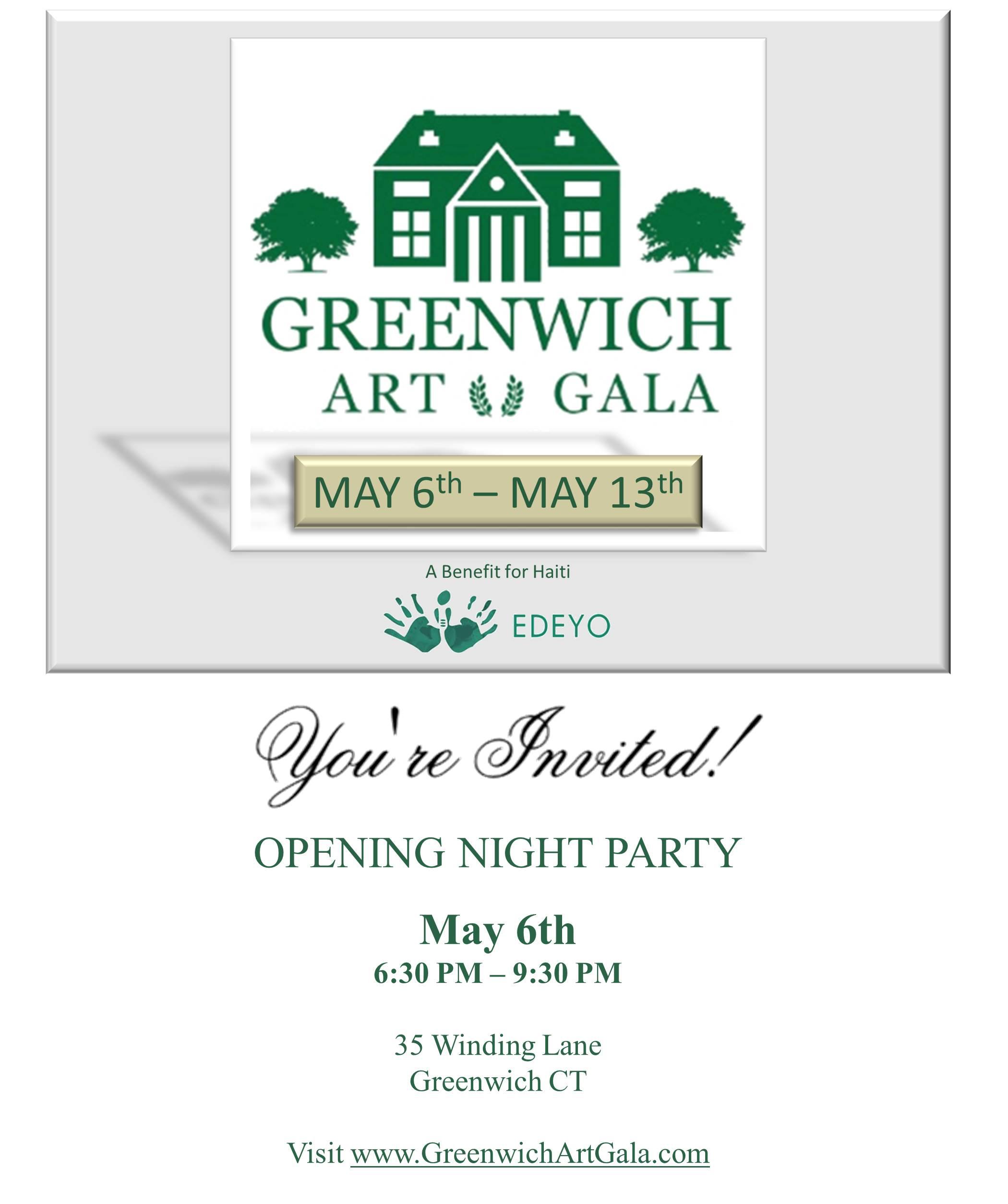 Greenwich Art Gala Evite